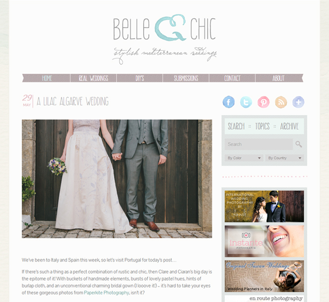Rustic Algarve Wedding - Featured in Belle & Chic